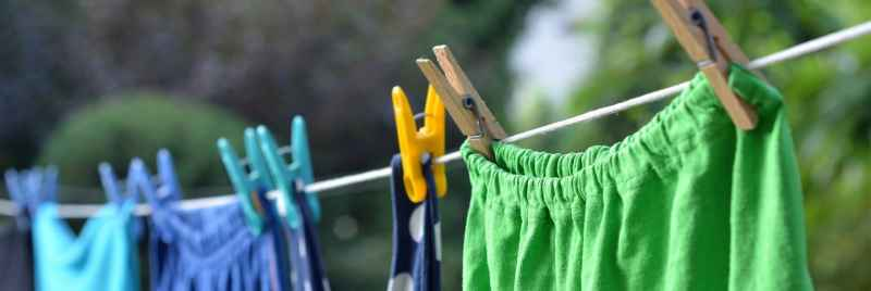 Cotton clothes hanging out to dry.