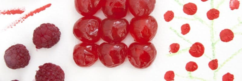An image of red fruits and berries.