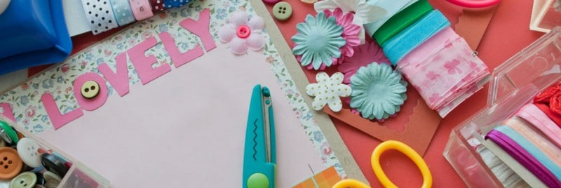 Creating a family scrapbook.