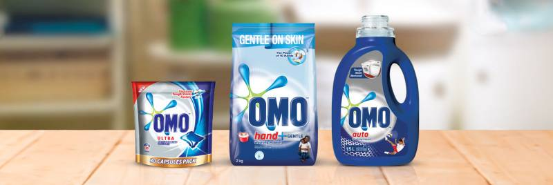 An image of OMO Laundry Kit products